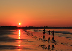 It's going to be a great day (Patricia McAtee - Photos of Maine) Tags: sunrise sunlight waves outdoor reflections sunrays running beach ocean