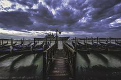 Il Molo at Dawn (TXA Photography) Tags: grandcanal river water sky clouds dawn venice venezia veneto jetty colours italy italia gondolas travel march ship fourseasons europe canon canon5d canon5dmkiii longexposure 1635mm