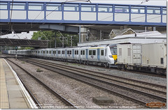 Brand new 700117 being dragged south through Huntingdon by 66751 as 6X70, July 26th 2017 a (Bristol RE) Tags: 700117 6x70 45201 huntingdon thameslink 700 class700