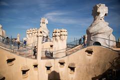 La Pedrera roof (Peter J Brent) Tags: casamilà lapedrera barcelona spain