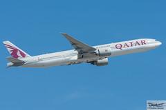 Qatar Airways Boeing 777-3DZ(ER) A7-BAQ (719134) (Thomas Becker) Tags: qatar airways qtr boeing b777 777 3dz 300 77w b77w a7baq cn 38247 ln 910 131210 221210 qr70 doha doh fraport flughafen airport aeroport aeropuerto aeroporto fra eddf frankfurt plane spotting aircraft airplane avion aeroplano aereo 飞机 vliegtuig aviao аэроплан samolot flugzeug germany deutschland hessen rheinmain nikon d7200 nikkor 80400g vrii dx raw gps aviationphoto cthomasbecker 170718 departure geotagged geo:lat=50039523 geo:lon=8596970 aerotagged aero:airline=qtr aero:man=boeing aero:model=777 aero:series=300 aero:special=er aero:tail=a7baq aero:airport=eddf