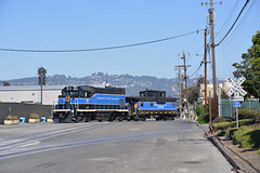 Richmond Pacific Cab-Hop (CN Southwell) Tags: richmond pacific gp151 wide vision caboose california