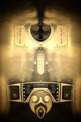 Vintage Camera (jgesq) Tags: camera vintage lightpainting light lightbrushtools lightpaintingbrushes lightblading godlight stills stilllife neon bright color illustration design popart fineart streak streaks bnw monochrome artgallery studio fire iron metal steel