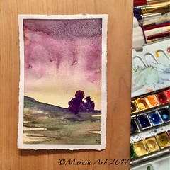 """Fatherly advice"" (abstract little watercolor) (marusaart) Tags: marusaart watercolour aquarell painting watercolor artist art"