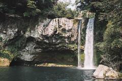 Cheonjiyeon Waterfall (eekiem) Tags: cheonjiyeon waterfall jeju island korea olympus penf 17mm f18