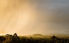 Sun shower passing winters storm (laurie.g.w) Tags: sun shower passing winters storm warragul westgippsland victoria australia rain landscape hill sky cloud light sunset evening afternoon eosm golden