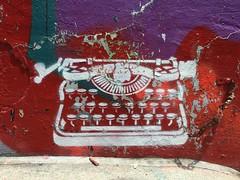 Toronto 2017 (bella.m) Tags: graffiti streetart urbanart toronto canada art stencil pochoir typewriter graffitialley rushlane