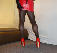 10 (Mandy Buffalo) Tags: stilettos skirt stiletto highheels heels high heel higheels guoar corsage mini