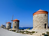 The windmills of Mandraki harbor (Frans Schmit) Tags: windmills windmolen mandraki rhodes rhodos greece griekenland fransschmit harbor