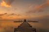 Amanecer. (Amparo Hervella) Tags: santiagodelaribera españa spain paisaje mar agua nube reflejo amanecer color naranja largaexposición d7000 nikon nikond7000 comunidadespañola nwn