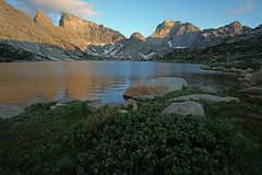Deep Lake in the late evening. (kyleddsn) Tags: windriverrangewyoming summer hiking backpacking deeplake