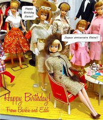 HAPPY BIRTHDAY ELAINE (ModBarbieLover) Tags: american girl doll fashion 1965 gold glamour shop vintage birthday