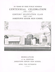 Centennial Celebration & Dedication booklet cover (terry lorenc) Tags: jhs class 1967 jamestown high school new york