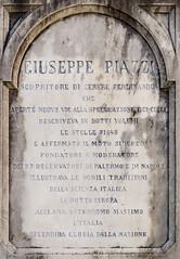 Inscription on the statue of Giuseppe Piazzi (Armand K) Tags: ceres1 giuseppepiazzi italy piazzi ponteinvaltellina valtellina astronomer inscription mathematician memorial public statue