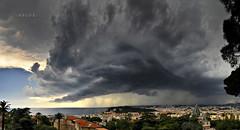 * Spectaculaire arcus Niçois * (-ABLOK-) Tags: arcus storm orage clouds chaos tempête rain pluie lightning nice nissa france ablok frenchriviera dramaticsky sky monster sea city ngc