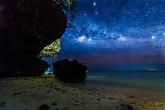 milky way above anda (alexandrechary) Tags: night stars milkyway astrophotography landscape sea seascape travel ocean sand rocks trees longexposure nikon d750 1424mm philippines bohol asia