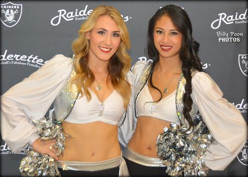 2015 Oakland Raiderettes Tess & Courtney