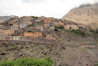 Berber village on the Imlil valley