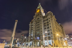 Go Slowly (Tim van Zundert) Tags: hdr highdynamicrange liverbuilding threegraces urban waterfront pierhead liverpool merseyside northwestengland building architecture city night evening longexposure cloud sony a7r voigtlander 21mm ultron