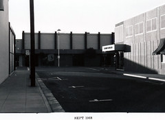 MP1968: Santa Cruz Avenue - South Side, rear (menloparkplanning) Tags: menlopark mp1968downtownecr california sanmateocounty downtown santacruzavenue scannedphoto historicalphoto historical 1968
