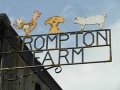 Nostalgic Farm Sign (Glass Horse 2017) Tags: bromptonfarm metal sign rusty rural rustic lichens pig cockerel cornstook