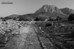 Ancient Corinth, Greece. Agora's main street (theseustroizinian) Tags: ancientgreece architecture ancient temple architect art greece greek peloponnese hellas hellenic