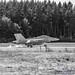 Black & White of EA-18G Making Smoky Impact on OLF