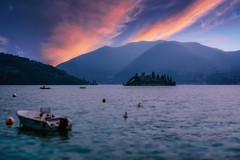 Sunset on Lake Iseo (Mario Ottaviani Photography) Tags: sony sonyalpha italy italia paesaggio landscape travel adventure nature scenic exploration view vista breathtaking tranquil tranquility serene serenity calm marioottaviani sunset lake iseo lakeiseo tramonto lago lagodiseo longexposure lungaesposizione