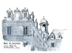 Brive la Gaillarde (gerard michel) Tags: france limousin brive architecture sketch croquis