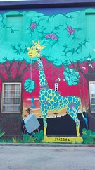 Giraffa (particolare) (tonitonim) Tags: muro wall art arte murales murale muralism streetart urbanart giraffa animali animals nature tonim tonitonim sardegna sardigna sardaigne colore colors cartoon sangavinomonreale undicisei house casa paint