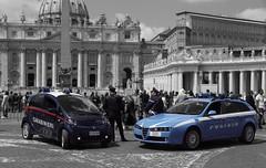 Carabinieri Mitsubishi I-Miev & Polizia Stradale Alfa Romeo Sportswagon Q4 (Boss-19) Tags: arma dei carabinieri | piazza papa pio xii san pietro via della conciliazione citta del vaticano vatican city roma rome capitale lazio laz italy italia mitsubishi imiev cc di 581 ho alfa romeo 159 sportswagon q4 h0567 polizia stato stradale ccd| ccdi581 di581 0567 h0
