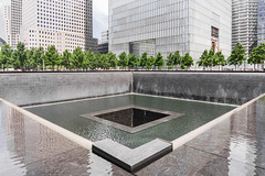 National September 11 Memorial (Gimo Nasiff) Tags: gimo nasiff photographer photography national september 11 memorial 911 nyc downtown peterwalker daniellibeskind architects michael arad architecture fountain wtc one world trade center financial district 180greenwichst streetview street view travel sony ilce6000 ilcea6000 geometry