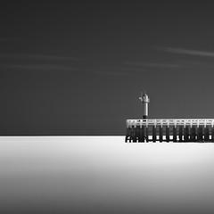 Somewhere along the Belgian coast (brechtvhb) Tags: nieuwpoort sky sea water longexposure fujifilm formatthitech pier seascaple lighthouse staketsel belgium flanders