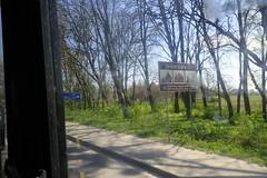 Arrivée à Lviv depuis Zymna Voda (8pl) Tags: lviv ukraine unesco panneau trottoir arbres route champs
