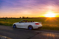 another sunrise (luongphoto) Tags: luongphotography luongphoto bmw 335i n54 te37sl te37 hyperblue sunrise colors color 35mm art droptop topless topdown volkracing raysengineering csl