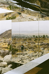 Photographing the Mirage (eekim) Tags: mirage palmsprings fujifilmpro400h art desertx reflection dougaitkens yxyy desertpalisades film canonexee california unitedstates us