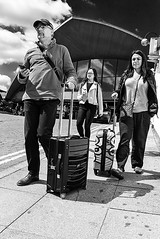 All Cases Have Four Wheels These Days (Geoff France) Tags: luggage case travel people manchester street streetphotography mono monochrome blackandwhite bags tourist traveller station railwaystation oxfordstreet