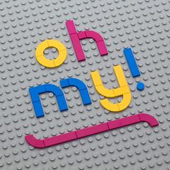 Text Experiment - Oh my! (powerpig) Tags: lego text
