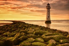 New Brighton lighthouse (paul blakeway) Tags: newbrightonlighthouse sunset coast seafront seashore sea seascape landscape photography goldenhour dusk