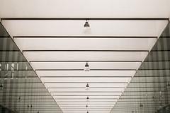 Lamps (DanielDuron) Tags: lamps lights architecture build building white light roof nikon d5500 5500 perspective geometry geometric symmetry symmetric black