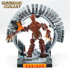 LEGO® Guardians of the Galaxy I AM LEGROOT! (Umm, Who?) Tags: lego bricks marvel superhero gotg gamora groot rocket star lord quill drax mcu