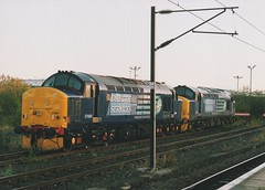 """Direct Rail Services 'Compass' Class 37/'s, 37688 """"Kingmoor TMD"""" & 37194 (37190 """"Dalzell"""") Tags: drs directrailservices compass ee englishelectric type3 growler tractor class37 class370 class375 37194 d6894 37688 kingmoortmd 37205 d6905 york"""