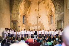 School Choirs at Montalto delle Marche, May 2017 (MikePScott) Tags: arch architecturalfeatures ascolipiceno buildings builtenvironment chapel choir church convent ecclesiastical featureslandmarks italia italy lemarche monastery montaltodellemarche people synagogue temple cossignano mar