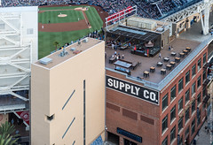 Aerial View of Petco Park (20170727-DSC03261) (Michael.Lee.Pics.NYC) Tags: sandiego petcopark mlb majorleaguebaseball stadium padres newyork mets westernmetalsupply altitude marriott rooftop lounge bar architecture aerial game infield eastvillage sony a6500 voigtlandernoktonclassic35mmscf14