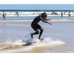 Surfing The Shallows (red stilletto) Tags: oceangrove oceangrovebeach bellarinepeninsula beach sea ocean summer surf surfer surfers surfing