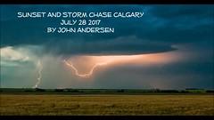 July 28 moonset, Sunset, Storm and Stars (John Andersen (JPAndersen images)) Tags: stars storm nightsky sunset cloudsstormssunsetssunrises clouds lightning prairie alberta farm canola barley
