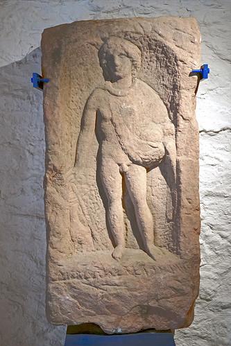 Stèle de Mercure (maison de l'archéologie, Niederbronn-les-Bains)