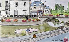 La France des Sous-Préfectures 49 (chando*) Tags: aquarelle watercolor croquis sketch france