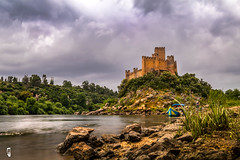 Almourol Castle also known by Castelo de Tancos (RAFA Prata) Tags: cano80d portugal castelo de almourol filters rio tejo rivers castle lightroom 2017 rain boat water over exposer nocrop joby gorillapod exposure long river barco agua ages travel photo canon80d raining trip rocks scenery current colors mygearandme canon greatphotographers hdr sunset dslr history war middleages europa