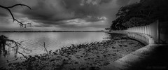 waiting ... (JDS Fine Art Photography) Tags: bw monochrome beach nature beauty naturalbeauty naturesbeauty sunset clouds inspirational